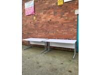 White office desks sold separately approx 160cm x 80cm f