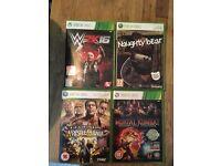 Four Xbox 360 games