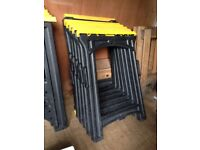 2 PAIRS FOLDING TRESTLES - £7.50 PAIR - WILL SELL SEPARATELY