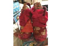 Pink irregular choice Abigail's party size 41