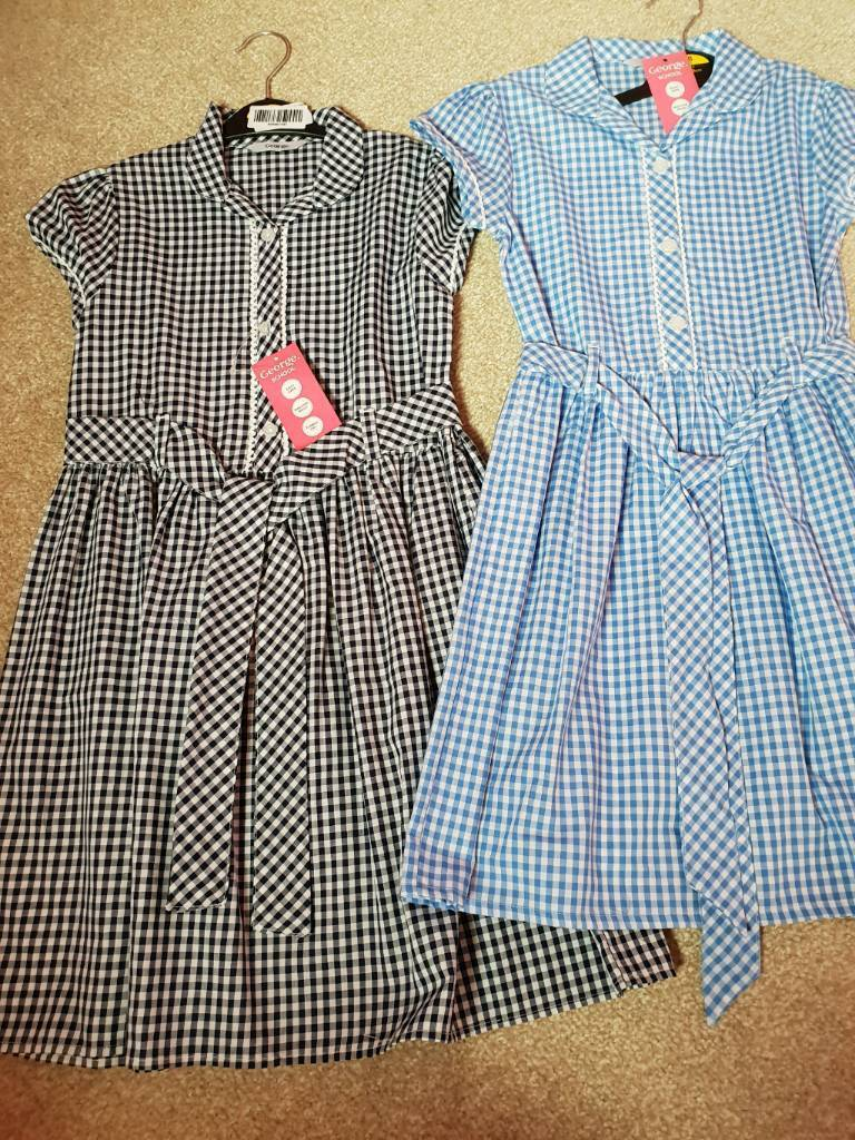 34cb37c6c 2 girls gingham school dresses Brand new with tags