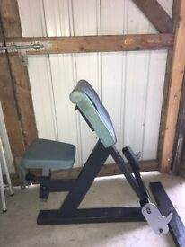 Pulse Fitness Commercial Grade Preacher Curl Bench - Arm Gym Weights