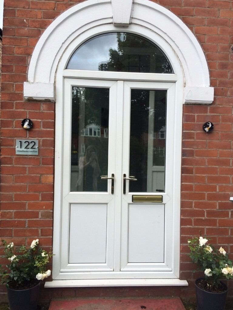 upvc french door arched frame in white 1930 39 s style 48 5