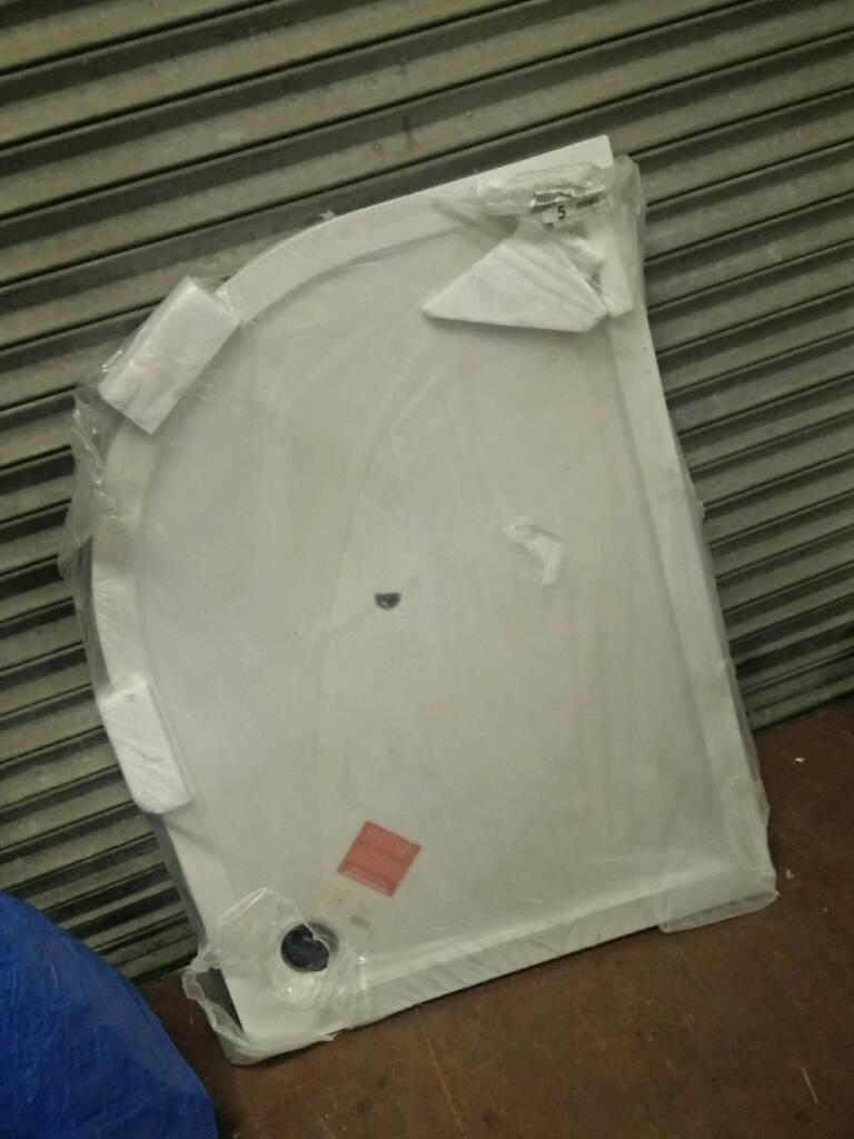 1200 x900 offset quad shower tray