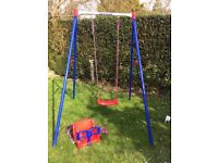 Kettler children's single swing and baby seat