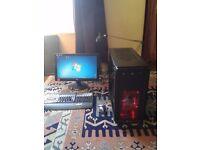 Gaming PC Tower, Intel Core 2 Quad @ 2.66 GHz, 8 GB Ram, 1 TB Storage, Windows 7 Pro