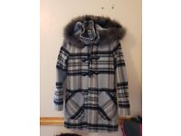 Longline Checkered Coat