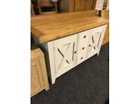 New-exDisplay large lovely sideboard-solid oak top
