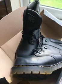 Dr Martens steel toe boots - size 9