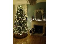 Beautiful Christmas Tree 7.5ft (2.2m) Pre-lit & Dual Color LEDs!