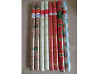 Christmas Wrapping Paper - 8 unopened tubes