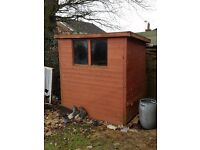Shed - Wood - 6x4 Pent Roof £25