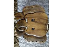 childs .... carved elephant stool