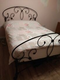 Original Bed Company black 'Arigna' double bed
