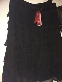 Monsoon ladies black party skirt size 12 £10