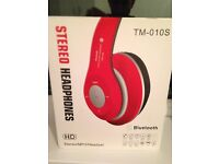 Foldable Wireless Bluetooth Stereo Headset Headphones Mic MP3 TM-010S