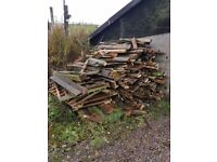 Timber decking for a bonfire free