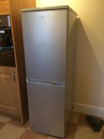 One month old silver fridge freezer