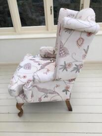 Wing back armchairs