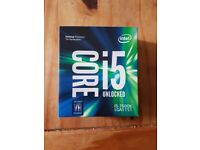Intel core i5 7600k 3.8 GHZ, 6MB Cache, LGA 1151 CPU - Pre owned, like new.