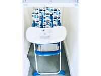 Mothercare highchair used occasionally for grandson