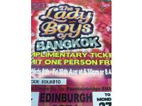 Lady boys of bangkok tickets