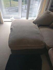 Biscuit coloured corner sofa