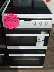 AMICA BRAND NEW 50CM CEROMIC TOP ELECTRIC COOKER IN WHITE