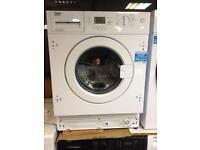 Wash machine integrated NEW beko 6.5 market price £299 we sale for £180
