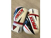 Collection of boxing gloves pads