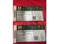 Two rugby tickets