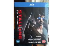 Stallone collection, Blu-ray, 5 disc boxset, brand new still in cellophane
