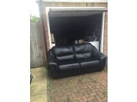 2 and 3 seater leather sofas for sale - £200
