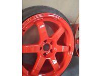 Alloy wheel refurbishing bora golf skyline civic ep3 wheels