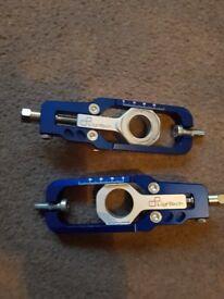 Honda 1000rr lightech chain adjusters .