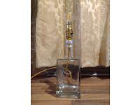 Vintage bottle bed desk lamp light gold braided cable