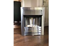 Stainless Steel Electric Fire - Fully Working