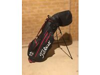 TITLEIST STADRY LIGHT 4UP WATERPROOF GOLF STAND BAG Black/Red