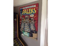 Doctor Who - The Daleks Comic Poster Mounted Canvas Length 80cm Width 60cm