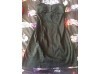 TOPSHOP SIZE 8 black dress worn once