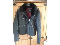 River island leather jacket size 16
