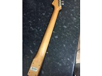 Mexican Fender Stratocaster Neck (Tuners will not be included!)