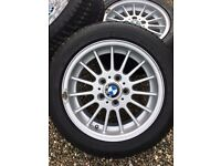 BMW 4 X 16 Inch Ally Wheels with Dunlop Winter Tyres