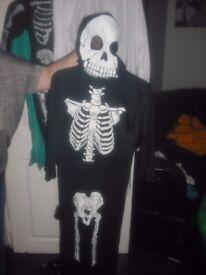2 boys skeleton halloween suits £5 each