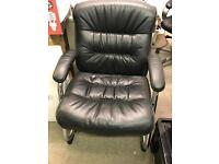 2 Real Leather office chairs & 2 Faux Leather