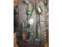 Bosch used sender, drill, planner and multi cuter