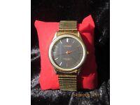 Gents gold Sekonda watch