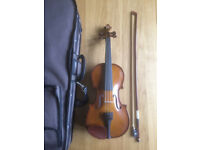 half size violin, stentor student 1, case, bow, rest included