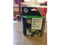 HP 920XL UNUSED PRINTER INK no black in the box
