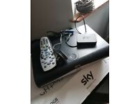 Sky plus HD 250gb box and router